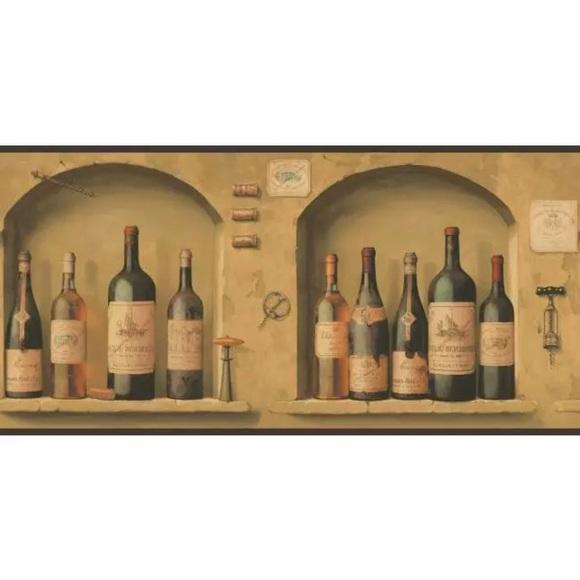York Wall Art The Wine Is Fine Wallpaper Border By Poshmark